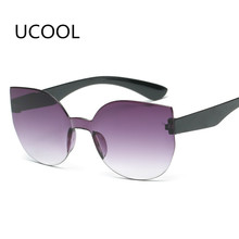 UCOOL 2018 Fashion Square Rimless Sunglasses Women Vintage Brand Designer Coating Sun Glasses UV400