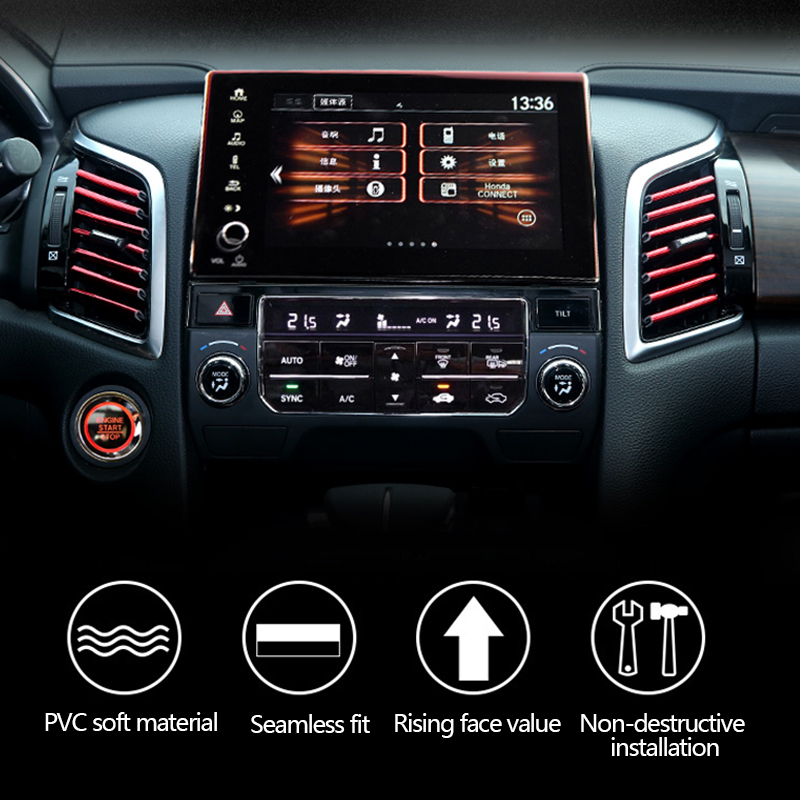 Image 3 - Car Stickers Interior Dashboard Air Outlet Vent Decoration Moulding Strips Universal Automobiles PVC Sticker on Cars Accessories-in Car Stickers from Automobiles & Motorcycles