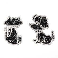 letter Patch Iron On Badges Embroidered Applique Dog Cat Sewing Badge Clothes Garment Apparel Accessories