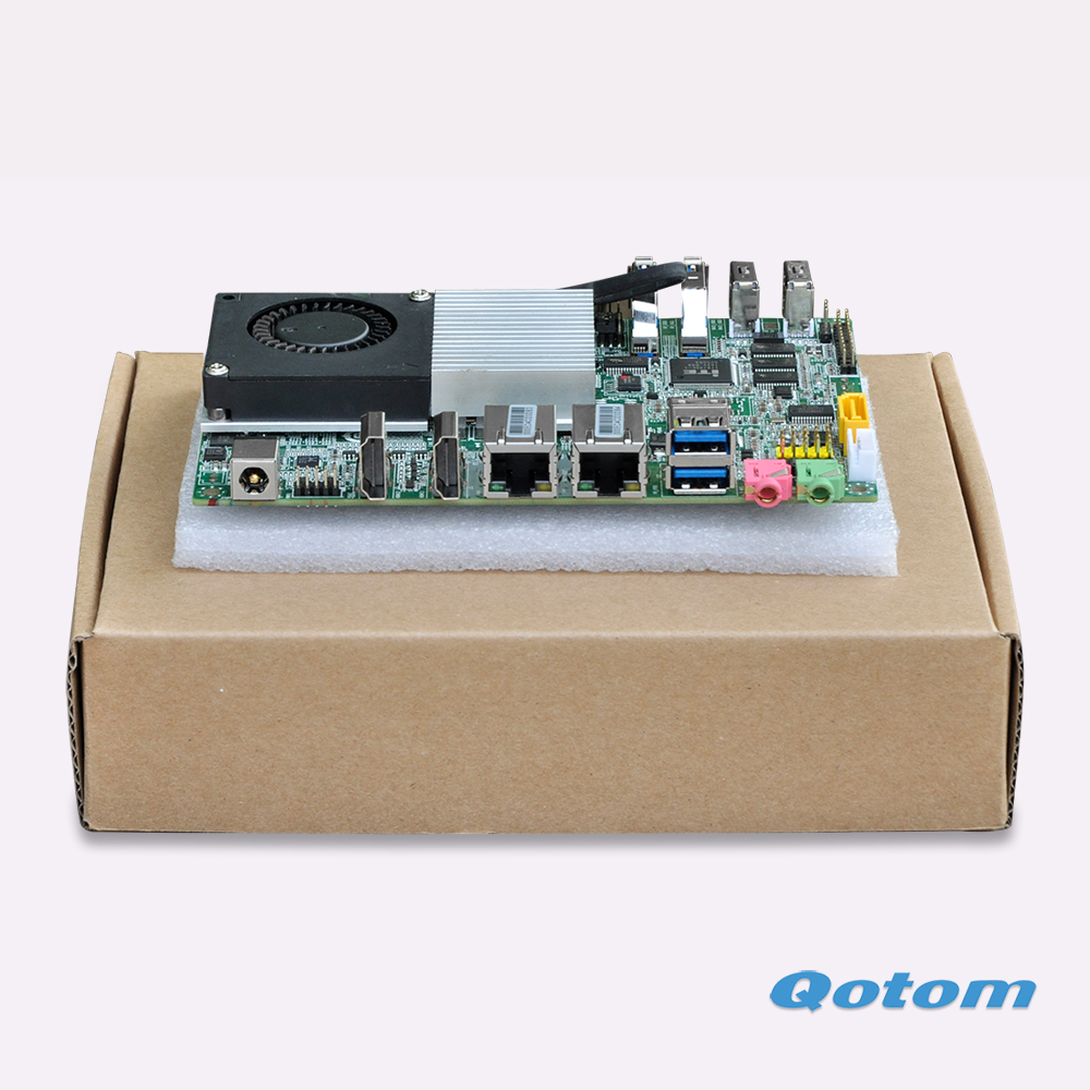 QOTOM 3.5 inch Industrial Motherboard Q3215UG2-P with Celeron processor, Mini Motherboard Dual core 1.7 GHz qotom mini itx motherboard with celeron n3150 processor quad core up to 2 08 ghz 2 lan 2 display port fanless motherboard page 1
