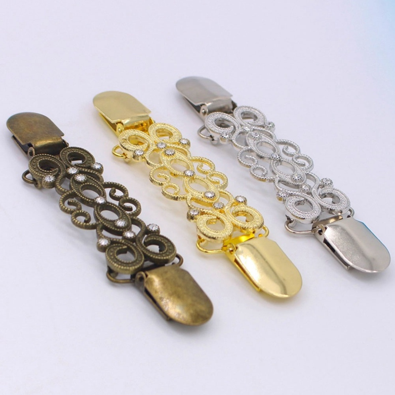 2018 Cardigan Clip Sweater Shawl Clip Keeper Collar Duck-mouth Gold Silver Clip Holder Garter Accessories Jewelry Gifts
