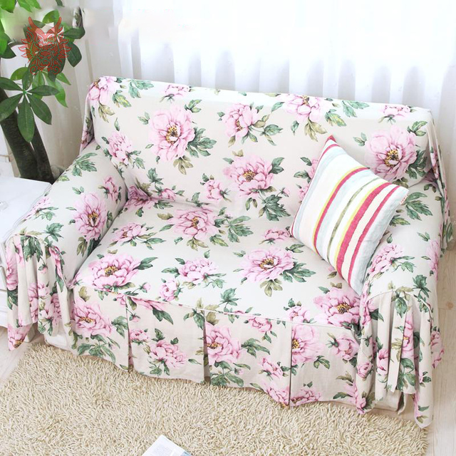 floral garden chic for slipcovers rose room shabby slipcover sofa vintage simply jacquard