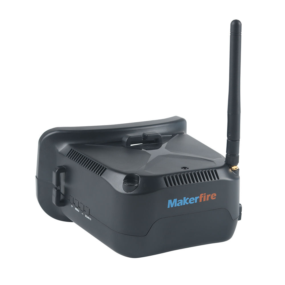 Makerfire 5.8G 40CH FPV lunettes 3 pouces FPV casque 800x600 P affichage vidéo verre pour FPV course Drone Quadcopters