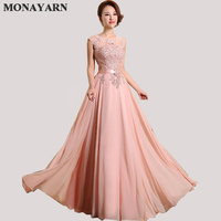 Evening Dresses Cheap 2017 Hot Sleeve Floor-Length Party Dresses Sexy Chiffon Long A-Line Prom Dresses Free shipping