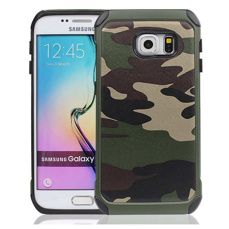 premium selection 5e47b e5ffb US $4.23 6% OFF|Military Camouflage Case For Samsung Galaxy S6 Plus S6 Edge  Hard Shockproof Cover For Samsung A5 A7 A3 2017 J5 J7 2016 Note 4-in ...