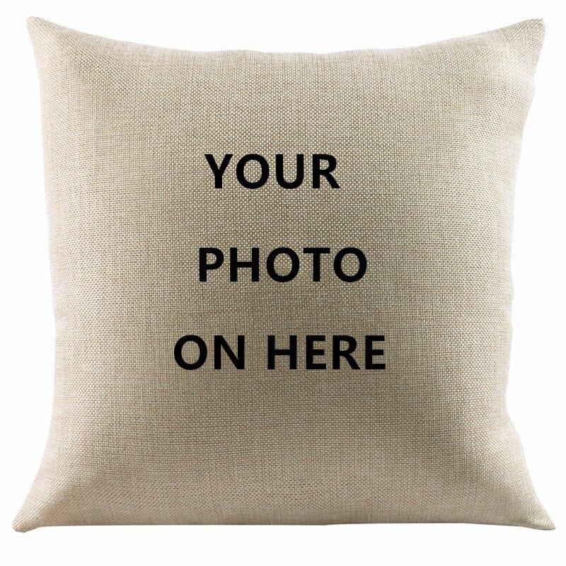 Pet 2017 Design Picture Here Print wedding Personal Life Photos Customize Gift Home Cushion Cover Pillowcase Capa De Almofadas