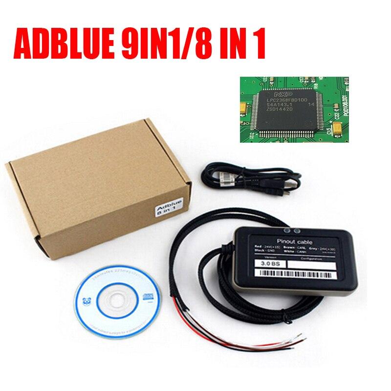 Лучшая микросхема 9 в 1 эмулятор Adblue 9 в 1 OBD2 Trucks Adblue универсальная система эмуляции AdBlue 9 В 1/8 в 1