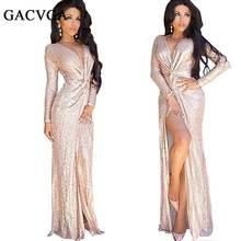 2016 Sexy v-neck bodycon dress summer elegant Evening party long dresses Slim sequin dress Women beach vestidos