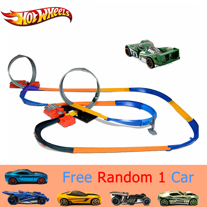 Hot Wheels Sport Cars Track 10 In 1 Suit Brinquedo Educativo Car Track Plastic Matel Hotwheels Track Set Model Y0267 Car Toy