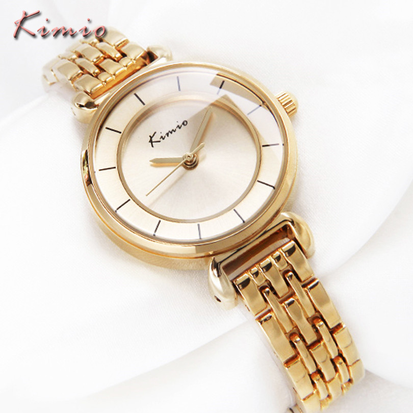 KIMIO Ladies Watches Top Brand Luxury Quartz Wrist Watch Business Gold Stainless Steel Relogio Feminino Casual Women Clock Reloj new famous dqg brand quartz watch women sports gold stainless steel watches relogio feminino clock casual wristwatches hot sale