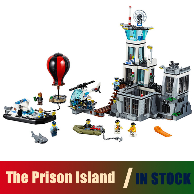 Compatible with lego City Series The Prison Island 60130 Models building toy 02006 815pcs Building Blocks toys & hobbies gift
