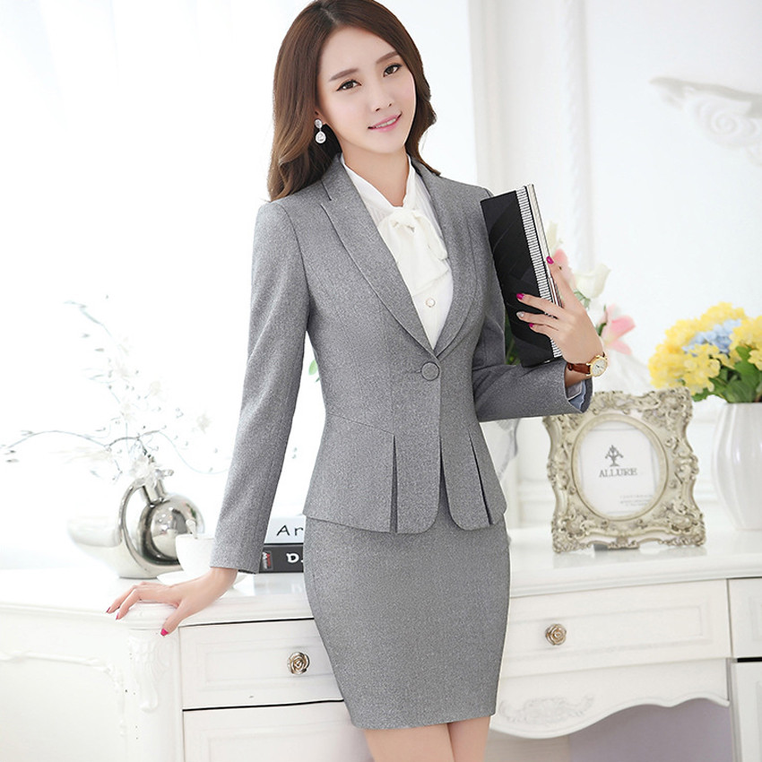 New-Hot-Fashion-Women-Ladies-Autumn-spring-Dress-Suits-Slim-Stitching-Pocket-bussiness-work-wear-Sets (1)