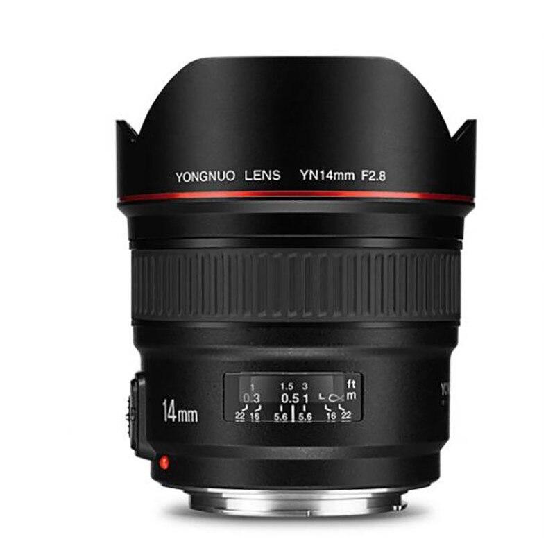 YONGNUO YN14mm F2.8 114 degrés Ultra-grand Angle objectif principal mise au point automatique AF MF monture métallique pour Canon 700D 80D 5D Mark III IV
