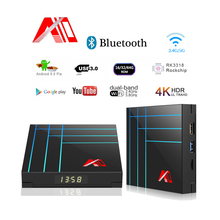 Newest Smart TV Box 4GB 64GB RK3318 IPTV Android Youtube 4K HDR Media Player Google Play Set Top PK H96 MAX