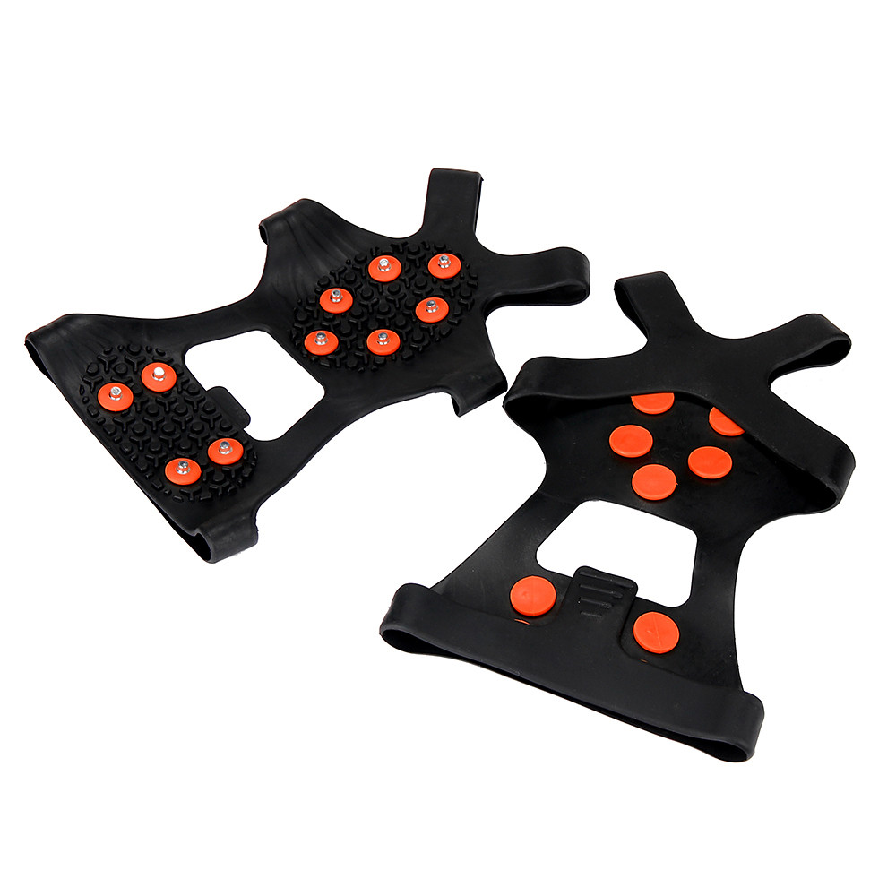 S M L XL 4 Size 10 Studs Anti Skid Ice Winter Climbing No Slip Snow Shoes Spikes Grips Cleats Over Shoes Covers Crampons|Climbing Accessories| - AliExpress