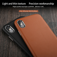 Three packs Genuine Leather phone case For iPhone X XS XSMax XR 6 6S 7 8 Plus case Anti fall luxurious protective case