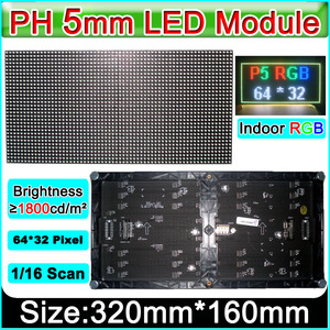 Image 2 - 2019 NEW P5 SMD 3 in 1 RGB Full color Module,Indoor Full color LED Display,P5 RGB LED Panel,320x160mm 64 * 32pixels