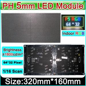 Image 2 - 2019 새로운 p5 smd 3 1 rgb 풀 컬러 모듈, 실내 풀 컬러 led 디스플레이, p5 rgb led 패널, 320x160mm 64*32 픽셀