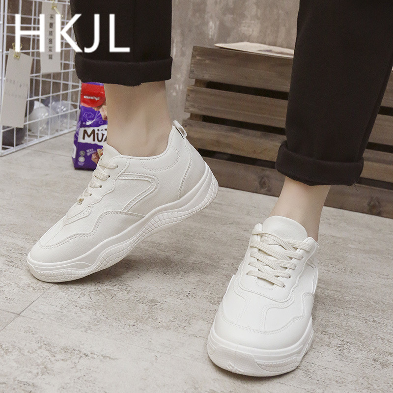 HKJL Fashion Female 2019 new spring small white shoes Korean version joker sneakers running A582