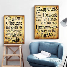 Harry Potter Quotes & Sayings Gifts Posters And Prints Canvas Art Decorative Wall Pictures For Living Room Home Decor Painting(China)
