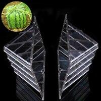 1 UNIDS de Plástico De Gran Tamaño Cuadrado Corazón Sandía Creciente Molde Formando Un Crecimiento de Fruta Transparente Conformación Molde Jardín Proveedor