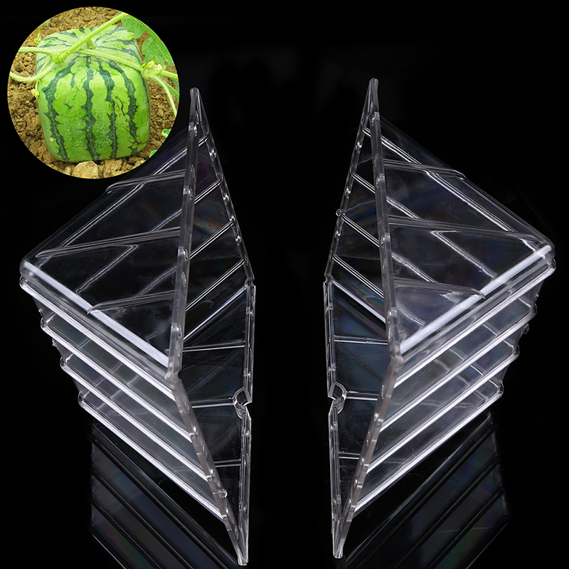 1PCS Large Size Plastic Heart Square Watermelon Growing Mold Transparent Fruit Growth Forming Shaping Mould Garden Supplier