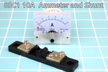 85C1 1Set New DC 0~10A Analog AMP Panel Meter current Ammeter and Shunt