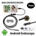 7 мм Android USB Камеры Эндоскопа 1 М/1.5 М/2 М/3.5 М/5 М IP67 Водонепроницаемый OTG Гибкая Змея USB Бороскоп Камеры 6LED Andorid