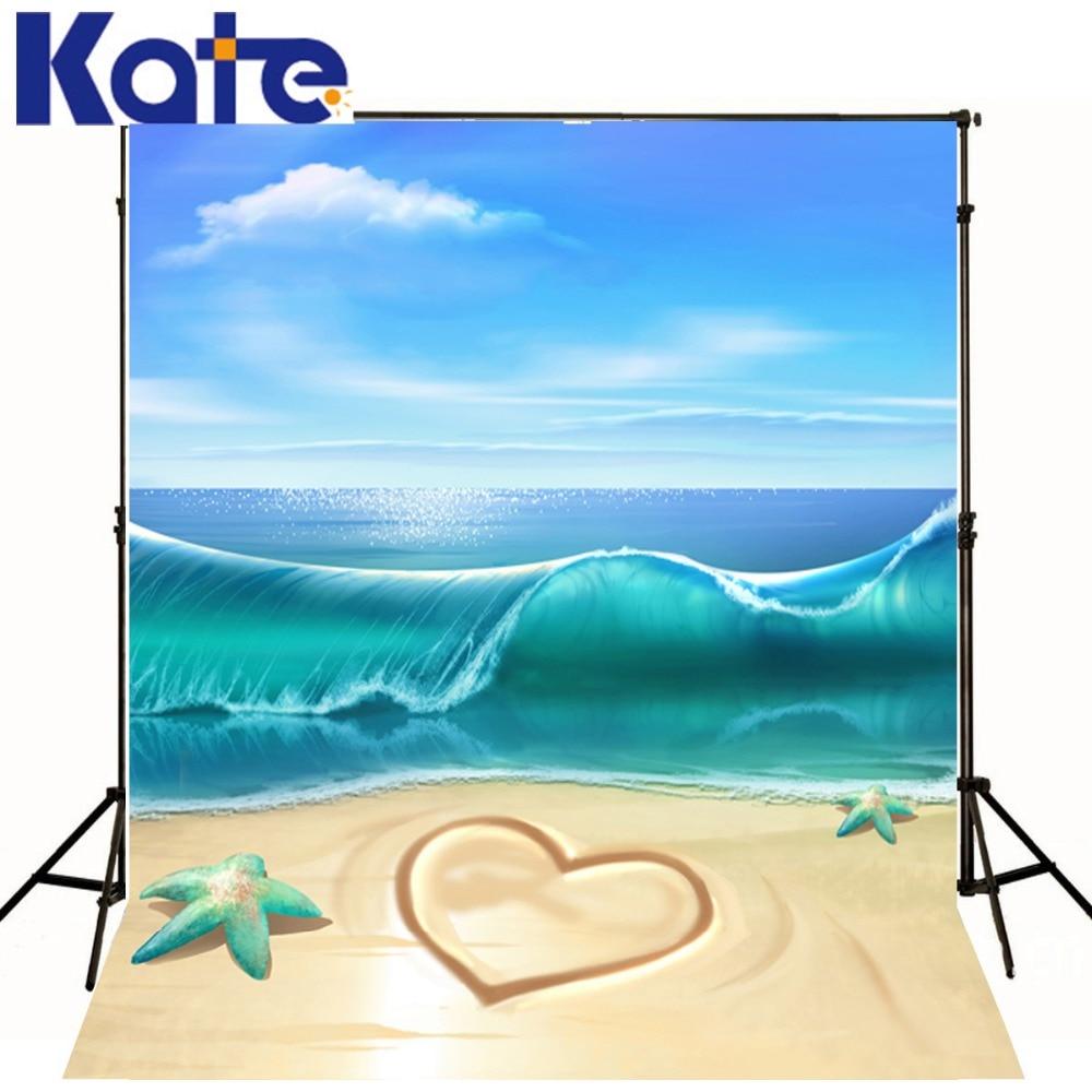 5 * 7FT Kate Vlastní Sea Beach kulisy Fotografie Pozadí Děti Fondos Fotografie Holiday kulisy pro fotografie
