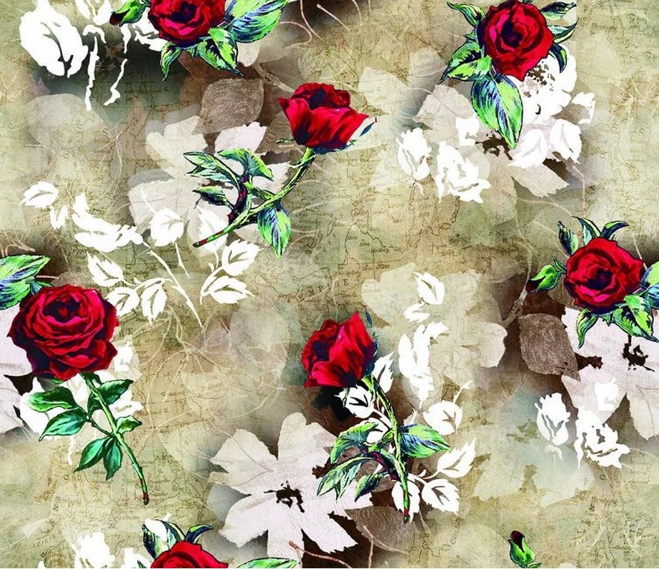 Hot sale rose chinese style flowers print fabric brand for Patterned material for sale