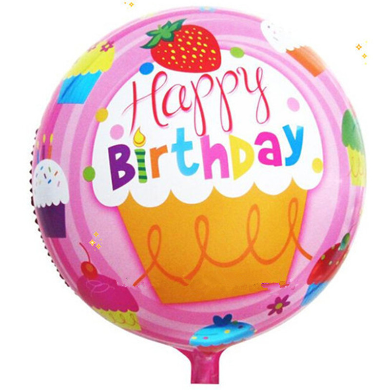XXPWJ free shipping new 1pcs round aluminum balloons Happy Birthday balloons dec