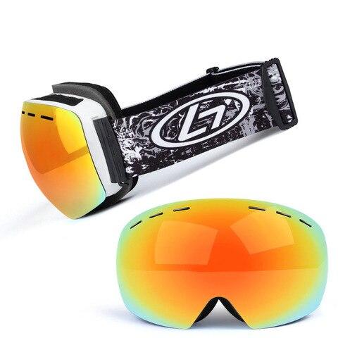 Óculos de Esqui Óculos de Sol Lente Dupla Anti-nevoeiro Esqui Snowboard Grande Inverno Esférico Uv400