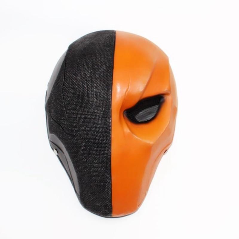 Deathstroke Helmet Halloween Arrow Season Deathstroke Full Face Masquerade Cosplay Costume Props Terminator Resin Helmet Masks