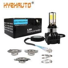HYZHAUTO 1 шт. H6 Ba20d светодиодный фонарь H4 светодиодный для мотоцикла Высокая мощность 24 Вт 3000лм для мотоцикла Скутер ATV налобный фонарь белый 12 В