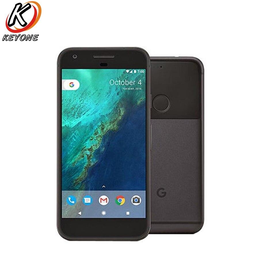 UE vesion d'origine Google Pixel 4g LTE Mobile Téléphone 5.0 4 gb RAM 128 gb ROM Quad Core snapdragon 821 D'empreintes Digitales Android Téléphone