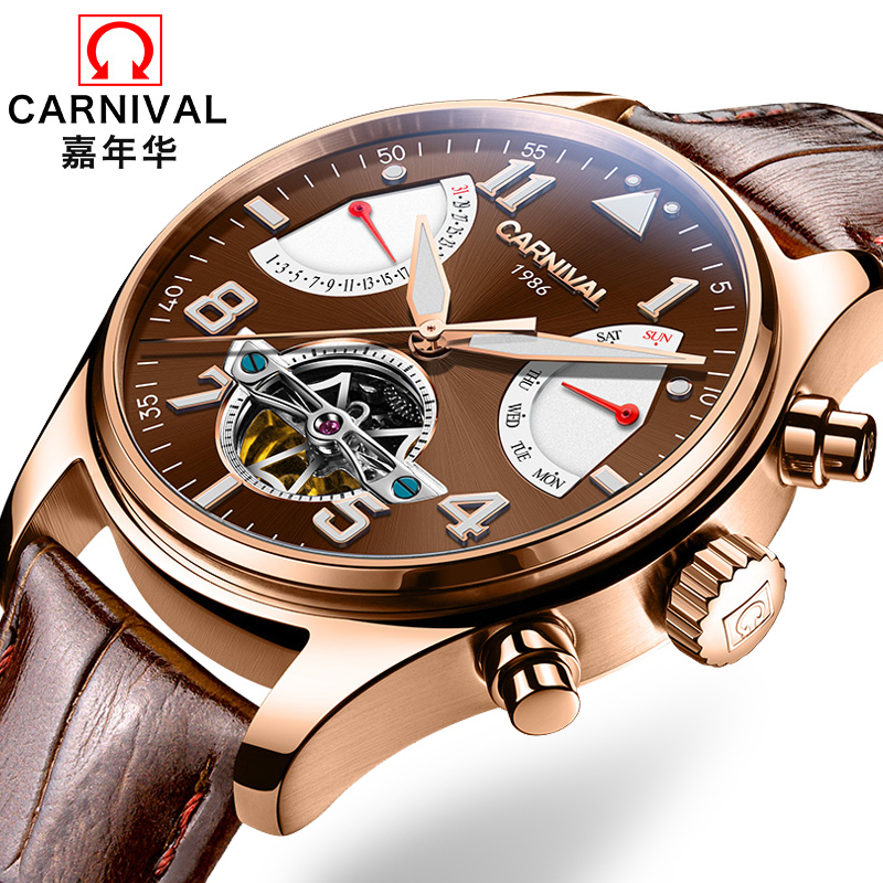 Switzerland Carnival Brand Luxury Mens Watches Multi-function Watch Men Sapphire reloj hombre Luminous relogio Clock C8783-8 цена