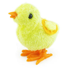 1PCS Cute Plush Wind Up Chicken Kids Educational Toy Clockwork Jumping Walking Chicks Toys For Children Baby Gifts 2019 hot sell(China)