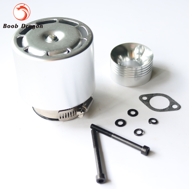 Metal Air Filter for cy zenoah engine for 1/5 fg hpi km rovan baja 5b 5t 5sc rc car rovan gas baja 30 5cc 4 bolt chrome engine with walbro carb and ngk spark plug for 1 5 scale hpi km losi rc car parts