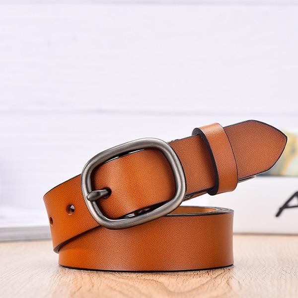 【DWTS】 женский ремень, Модный женский ремень из натуральной кожи, ремни для женщин, женский ремень с пряжкой, Необычные винтажные ремни для джинсов - Цвет: orange