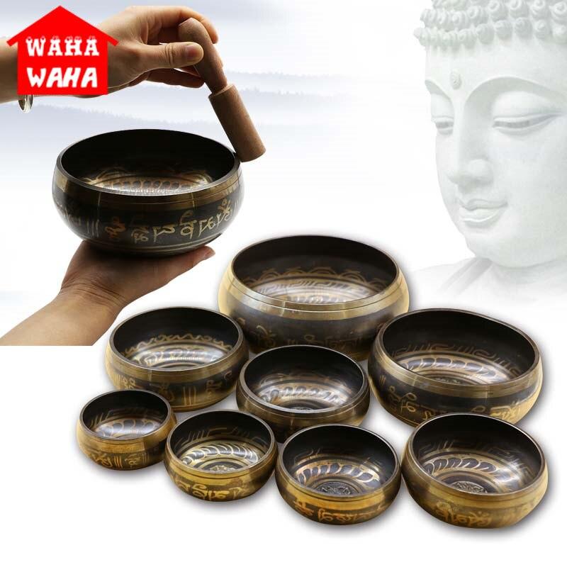 Tibetischen Schüssel Singen Schüssel Nepalesischen Buddhistischen Tibetischen Singen Yoga Meditation Schüssel Buddhistischen Sound Therapie Schüssel Kupfer Religion Carft