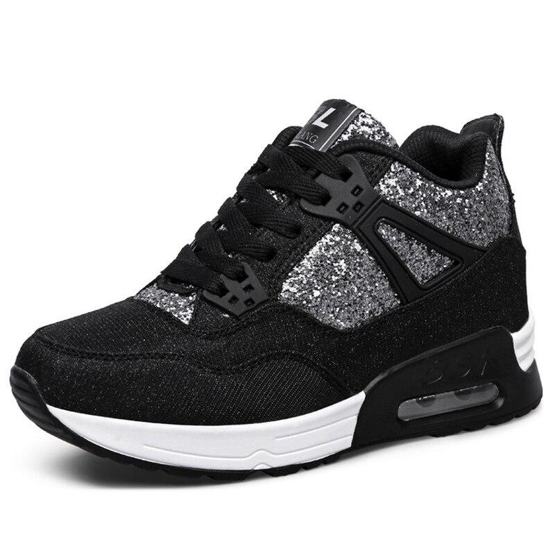 2018 height increasing womens shoes platform sneakers tenis feminino flat shoes woman zapatillas mujer casual sapato feminino