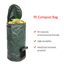 2 Sizes Compost Bag Organic Waste Kitchen Garden Yard Compost Bag Environmental PE Cloth Waste Disposal Organic Compost Bags kevin henke arsenic environmental chemistry health threats and waste treatment