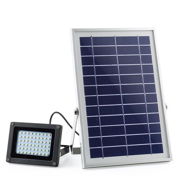 Spotlight Wall Lamps Billboard Solar 54 LEDs Dark Sensor Solar Light ...
