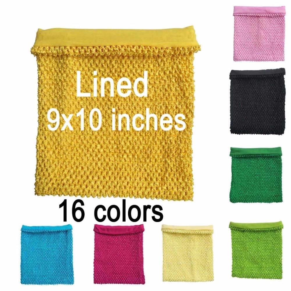Tapas de tubo de crochet con forro de 9x10 pulgadas para niñas - Ropa de bebé