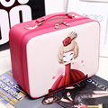 Women Small Portable Cute Suitcase Simple Lovely Makeup Organizer Large Capacity Storage Bag Cartoon Professional Cosmetic Box