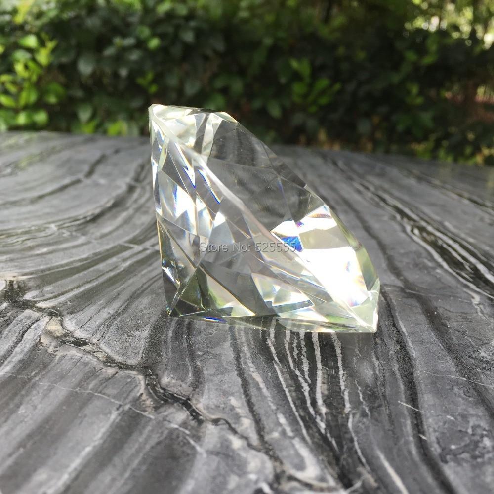 Freies verschiffen 50 teile/los individuellen logogravur kristallglas diamant briefbeschwerer als hochzeitstag souvenir geschenke-in Party-Geschenke aus Heim und Garten bei  Gruppe 3