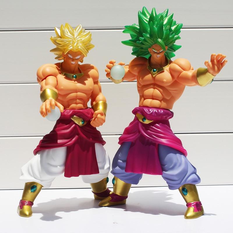 2Styles Dragon Ball Z Green Hair Super Saiyan Broly PVC Action Figure Model Toy Classic Toys Free Shipping 10 26cm