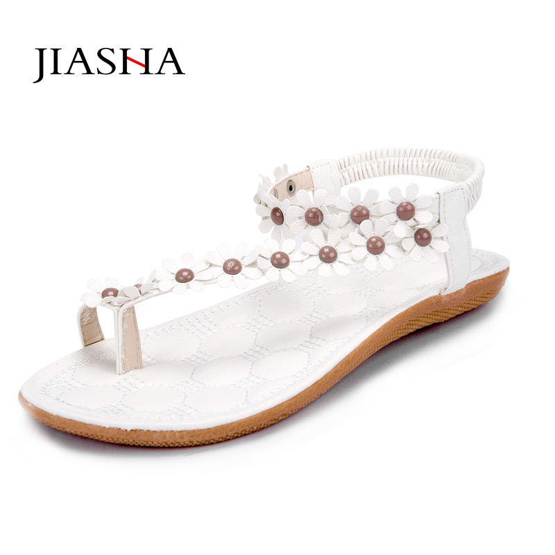 Women shoes sandals comfort flower sandals women beading 2016 new arrivals fashion women summer shoes ladies shoes sandals women flower beading summer flip