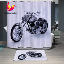 Sport style motorcycle bicycle WC Mat Anti slip tape Bathroom mats Toilet Tapetes Bathroom carpet 3d Animal bath mat for toilet(China (Mainland))
