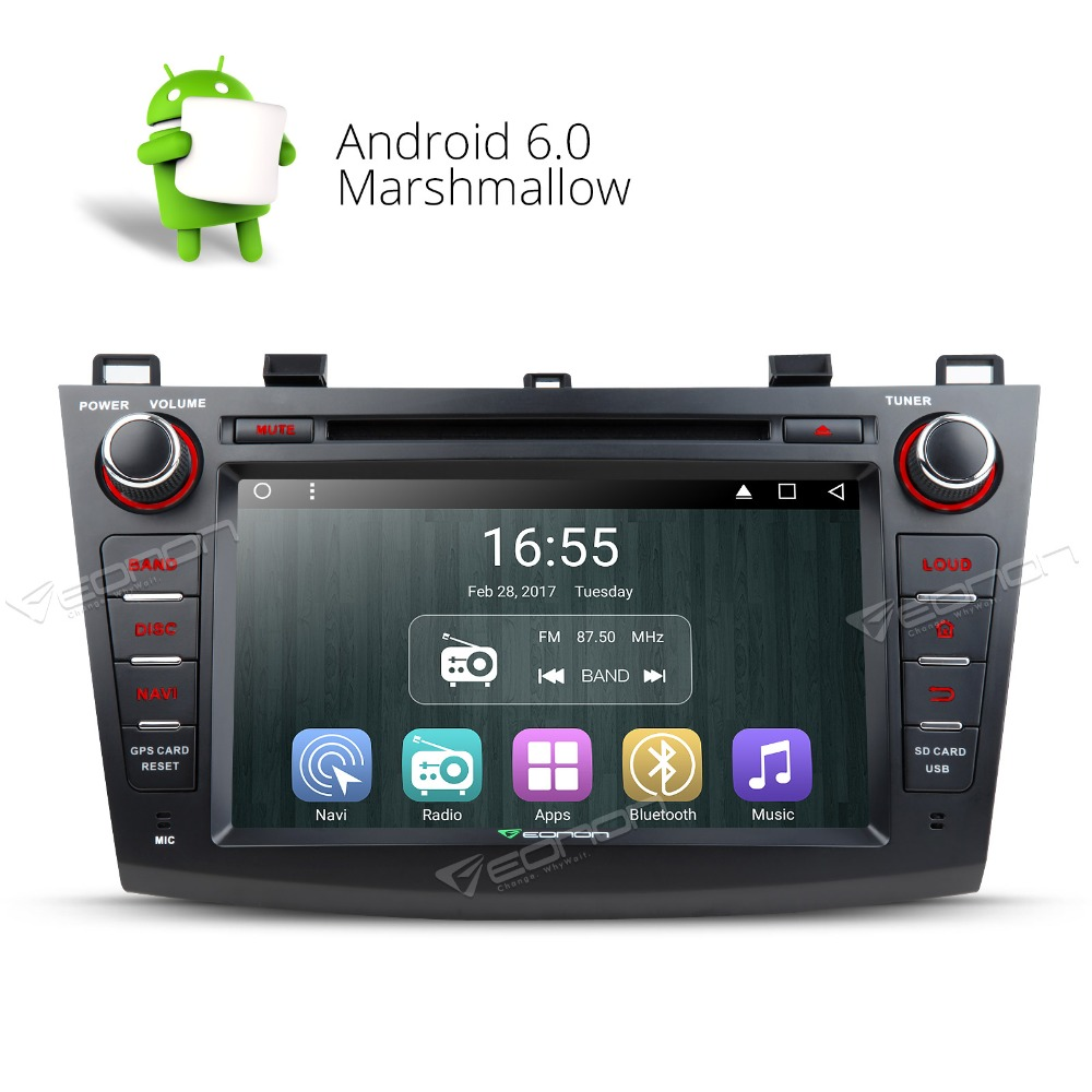 8 Quad Core Android 6.0 OS Special Car DVD for Mazda 3 2010-2013 with Bose Sound System Support & Factory AUX Input Support